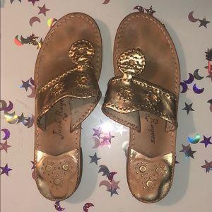 Gold Jack Roger Sandals